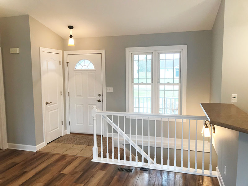 Stairway Rail Painting and Entry Way | Interior Painting Services Kalamazoo, MI | Van Tuinen Painting