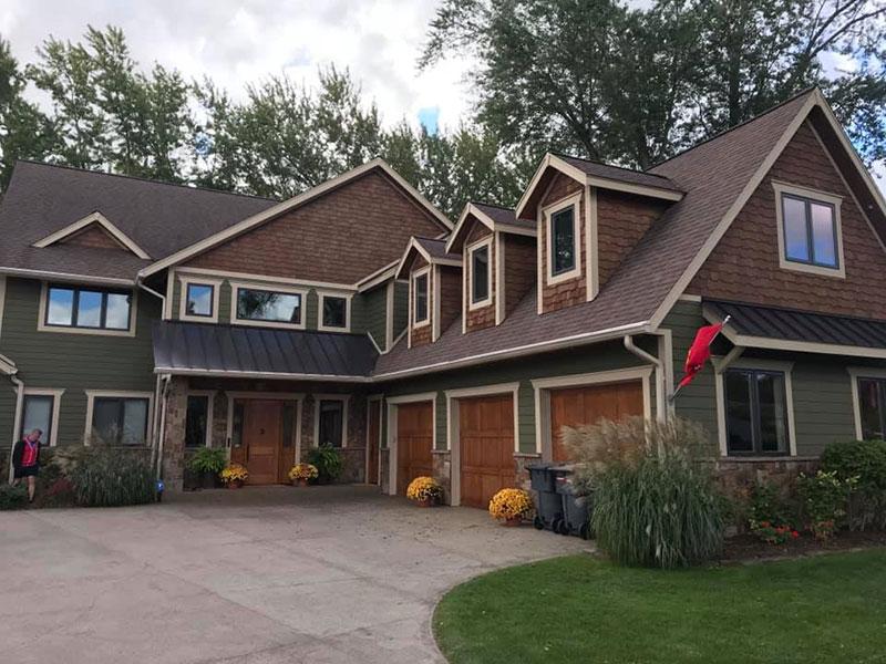 Green Home | Expert Exterior Painters Kalamazoo, MI | Van Tuinen Painting
