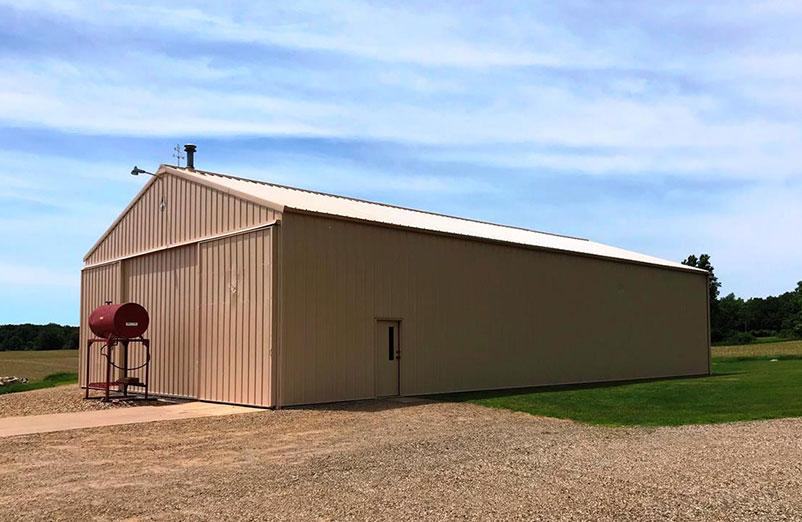 Tan Painted Barn | Professional Pole Barn Painting Kalamazoo, MI | Van Tuinen Painting