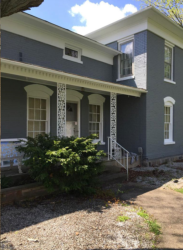 Blue and White Exterior Painted Home | Quality Painting Contractors in Southwest Michigan | Van Tuinen Painting