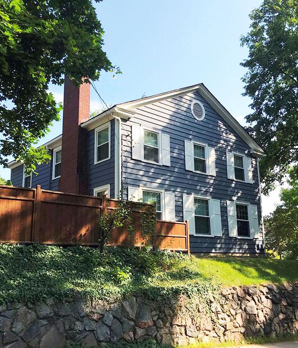 Blue Painted Home | Expert Exterior Painters Kalamazoo, MI | Van Tuinen Painting