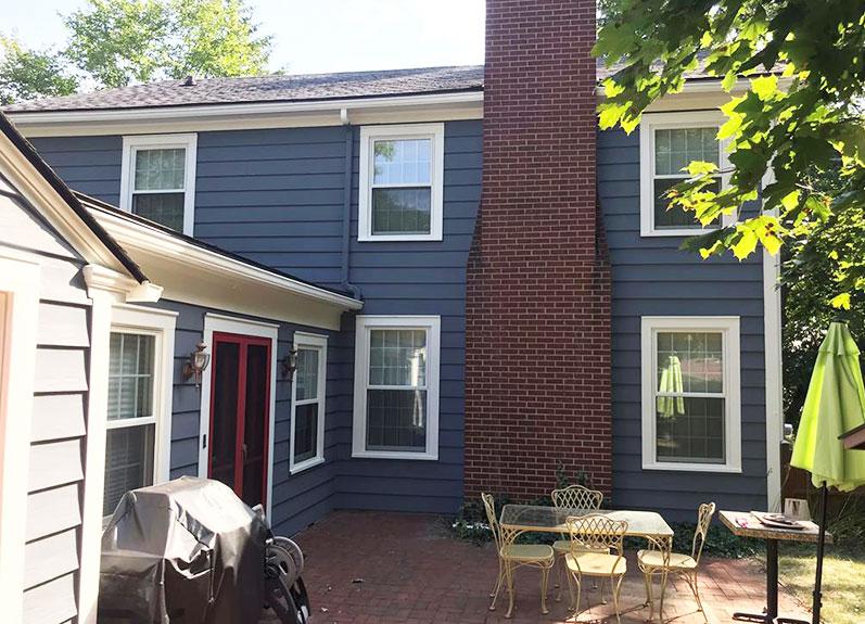 Blue Painted Home | Exterior Painting Services Kalamazoo, MI | Van Tuinen Painting