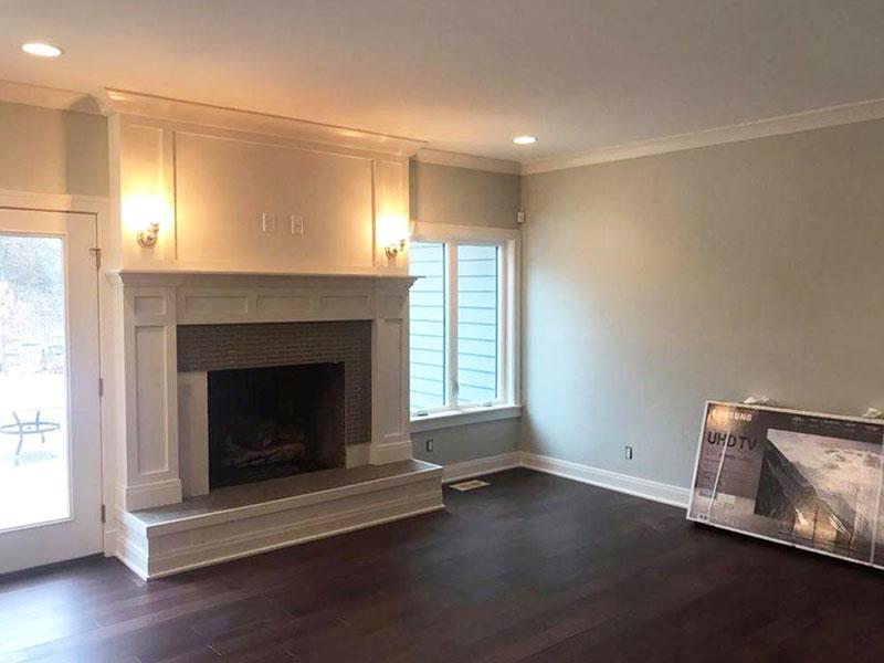 White Fireplace Paint Interior Design | Fireplace Painting Southwest, MI | Van Tuinen Painting