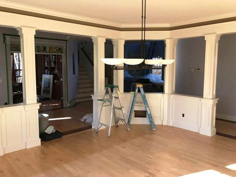 White Dining Room Painting | Professional Painters Kalamazoo, MI | Van Tuinen Painting