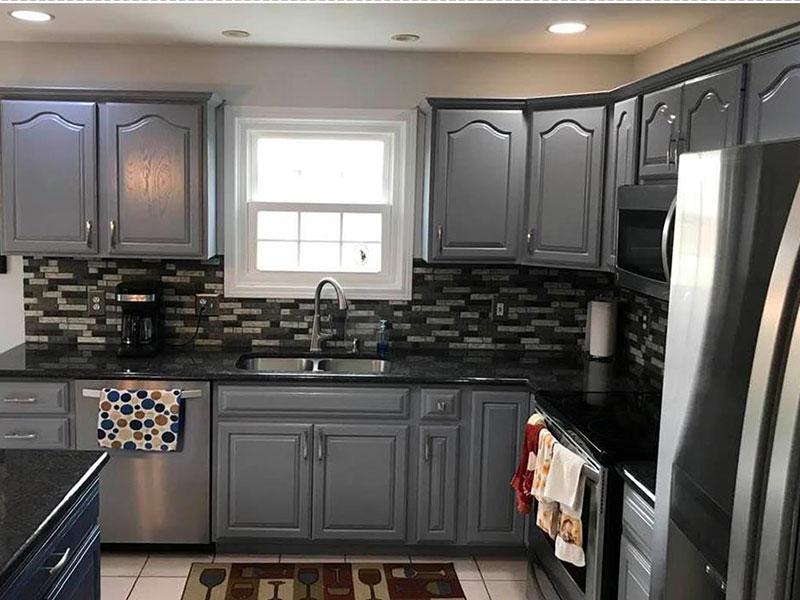 Gray Kitchen Cabinets | Kitchen Cabinet Painters Southwest, MI | Van Tuinen Painting