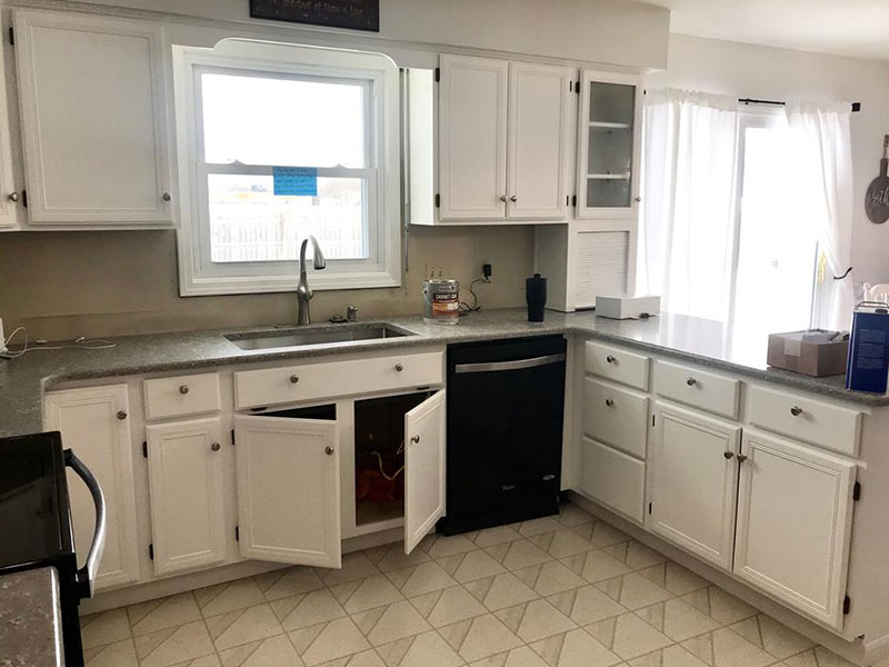 White Kitchen Cabinets Painted | Kitchen Cabinet Painters Southwest, MI | Van Tuinen Painting
