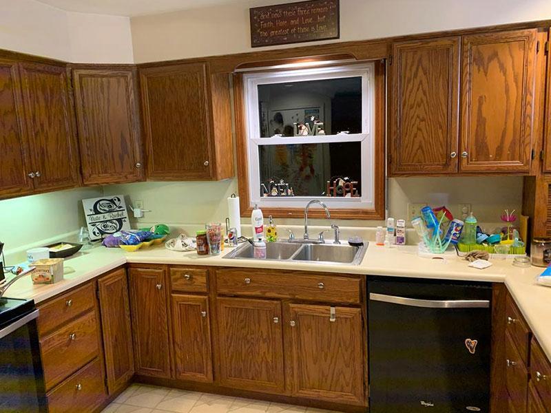 kitchen before | Kitchen Cabinet Painters Southwest, MI | Van Tuinen Painting