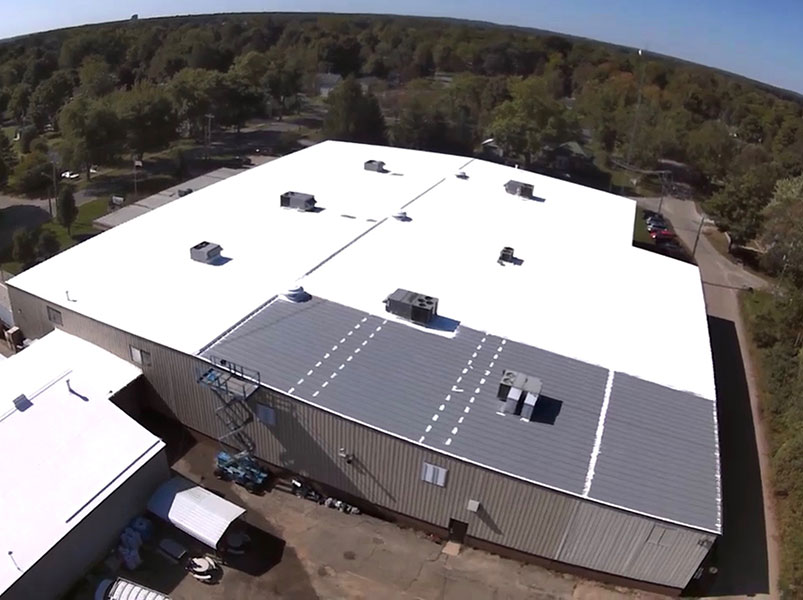AFTER ROOF COAT | Commercial Roof Coatings Kalamazoo, MI | Van Tuinen Painting