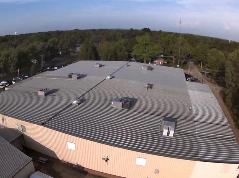 BEFORE ROOF COAT | Commercial Roof Coatings Kalamazoo, MI | Van Tuinen Painting