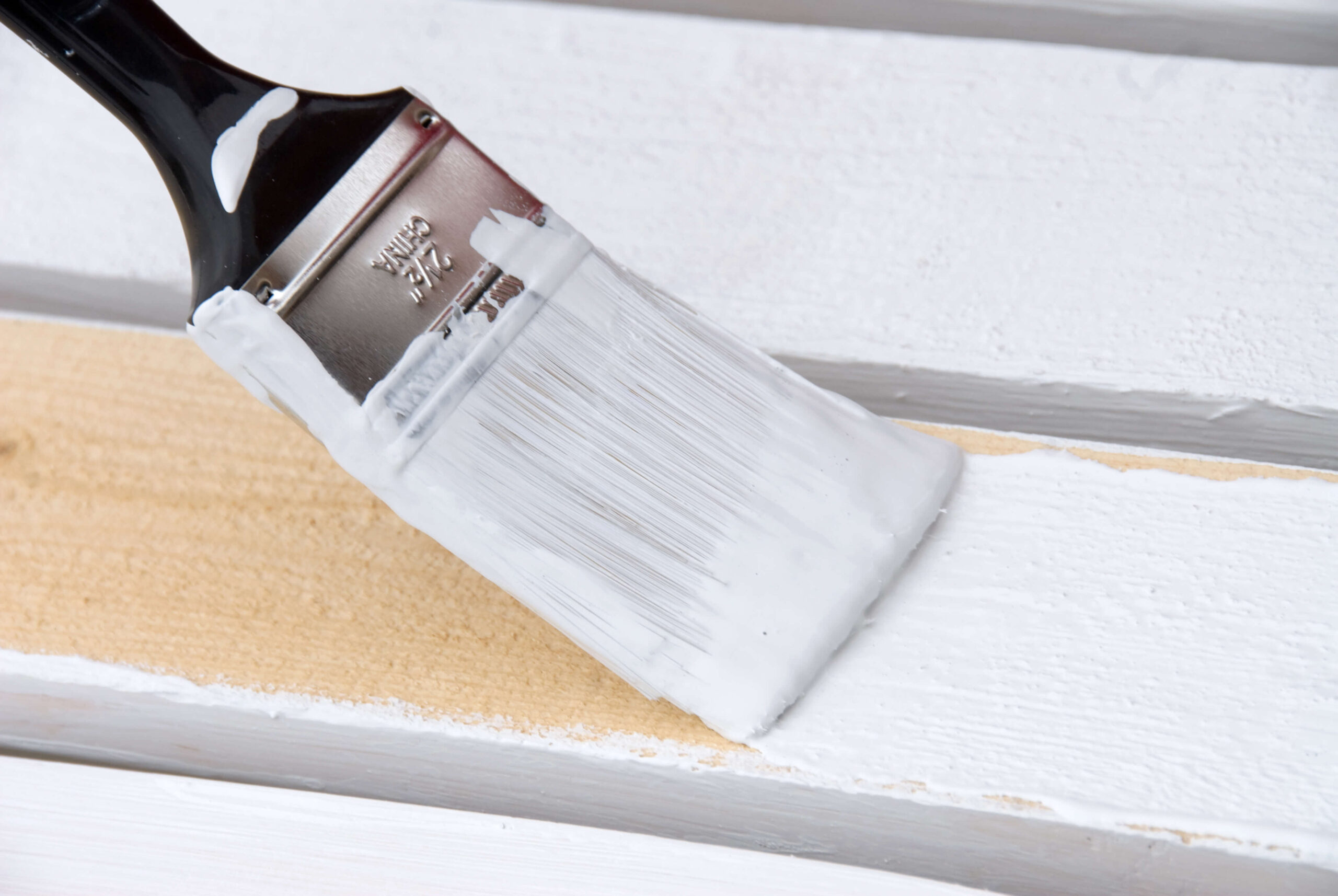 Close Up Of Painting Wood Siding | Van Tuinen Painting